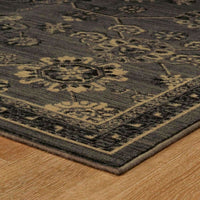 Woven - Foundry Grey Charcoal Oriental Persian Traditional Rug