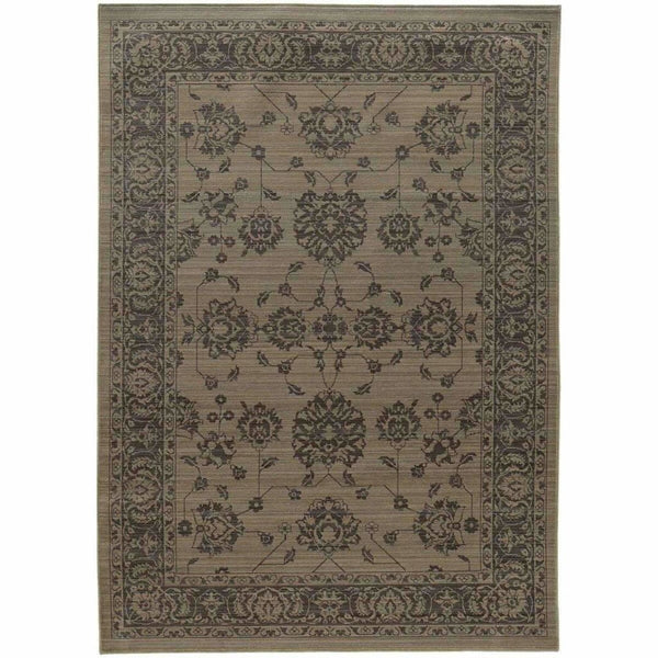 Foundry Grey Grey Oriental Persian Traditional Rug - Free Shipping