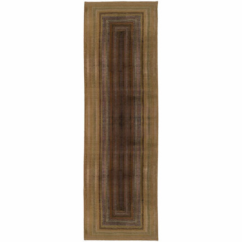 Oriental Weavers Generations Beige Green Geometric Border Contemporary Rug