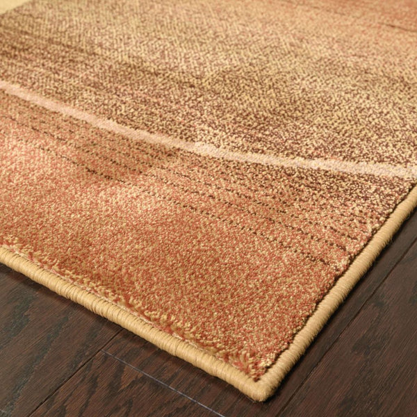 Woven - Generations Beige Rust Geometric  Contemporary Rug