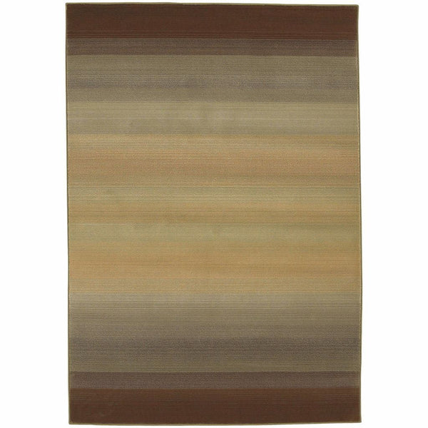 Generations Brown Beige Abstract Ombre Transitional Rug - Free Shipping
