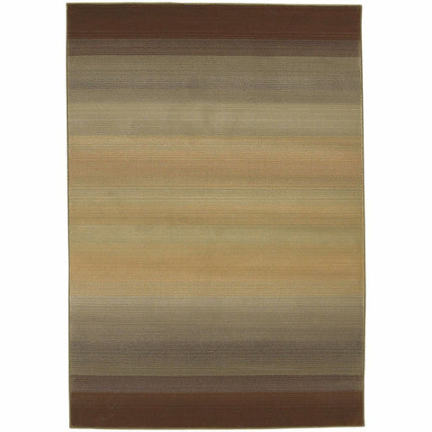 Oriental Weavers Generations Brown Beige Abstract Ombre Transitional Rug