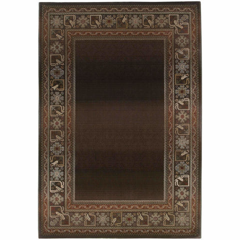 Oriental Weavers Generations Brown Green Border  Transitional Rug