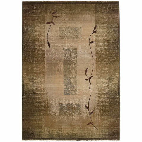 Oriental Weavers Generations Green Beige Border  Transitional Rug