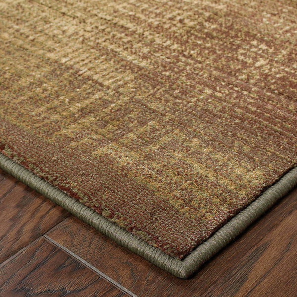 Generations Green Beige Border  Transitional Rug - Free Shipping