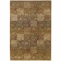 Generations Green Gold Floral  Transitional Rug - Free Shipping