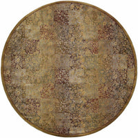Woven - Generations Green Gold Floral  Transitional Rug