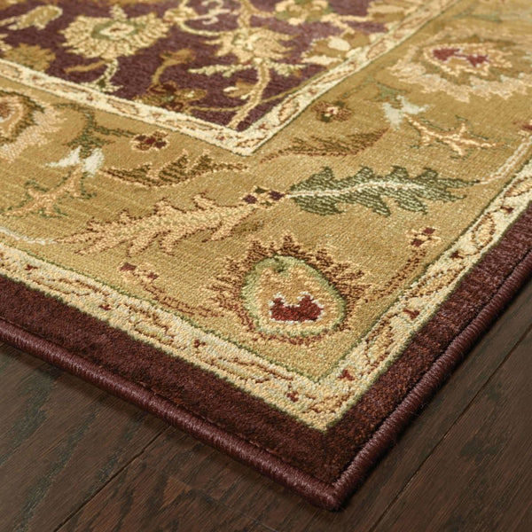 Woven - Generations Purple Gold Oriental Persian Traditional Rug