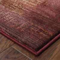 Woven - Generations Red Beige Border  Transitional Rug