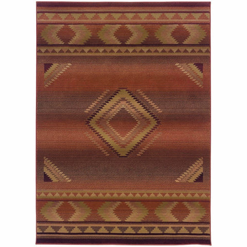 Oriental Weavers Generations Red Beige Southwest/Lodge  Transitional Rug