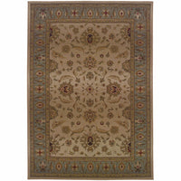 Genesis Beige Blue Oriental Persian Traditional Rug - Free Shipping