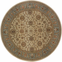 Woven - Genesis Beige Blue Oriental Persian Traditional Rug