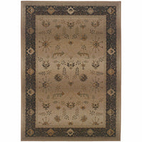 Genesis Beige Brown Oriental Persian Traditional Rug - Free Shipping