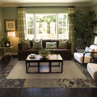 Woven - Genesis Beige Green Border  Transitional Rug