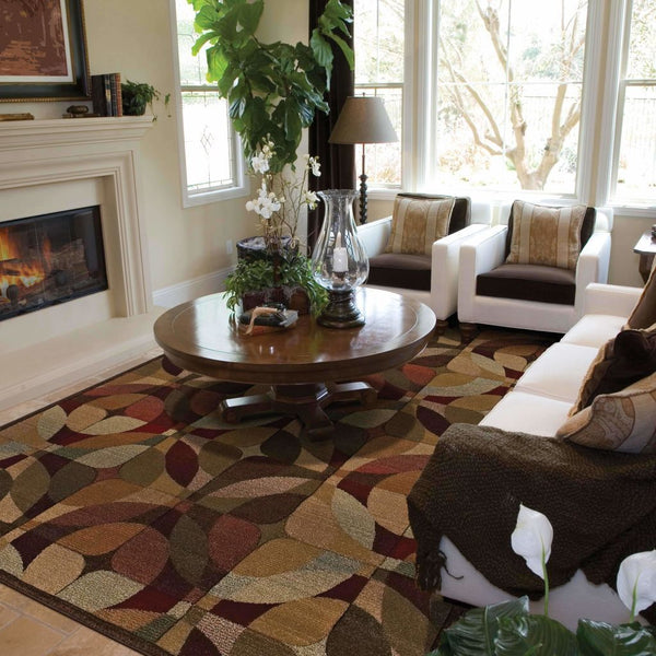 Woven - Genesis Beige Green Geometric  Transitional Rug