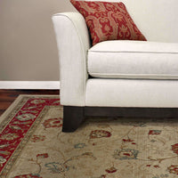 Woven - Genesis Beige Red Floral  Traditional Rug