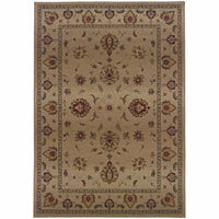 Genesis Beige Red Oriental Persian Traditional Rug - Free Shipping