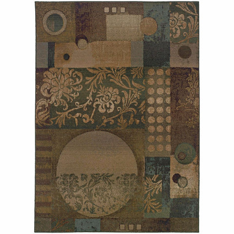 Oriental Weavers Genesis Blue Beige Abstract Geometric Contemporary Rug