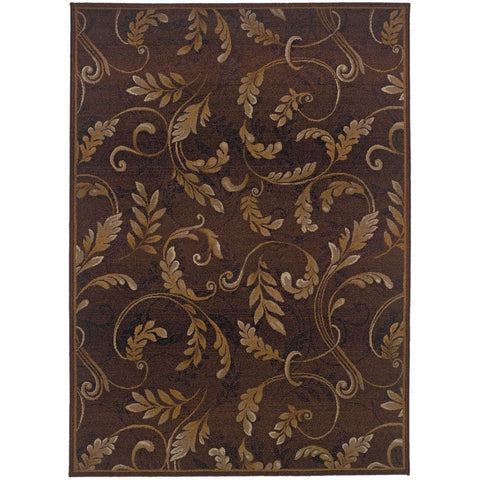 Oriental Weavers Genesis Brown Beige Floral  Transitional Rug