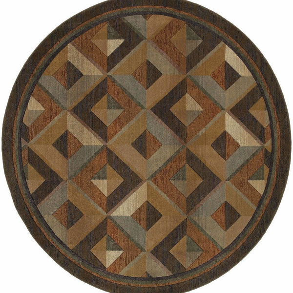 Woven - Genesis Brown Beige Geometric  Transitional Rug