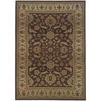 Genesis Brown Beige Oriental Persian Traditional Rug - Free Shipping