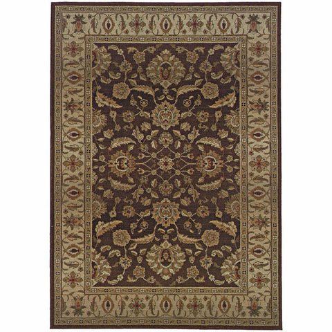 Oriental Weavers Genesis Brown Beige Oriental Persian Traditional Rug