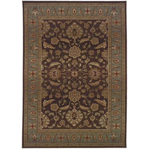Oriental Weavers Genesis Brown Blue Oriental Persian Traditional Rug