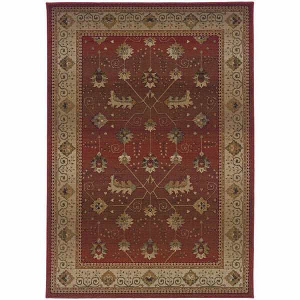 Woven - Genesis Red Beige Oriental Persian Traditional Rug