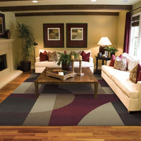 Woven - Genesis Tan Brown Abstract  Contemporary Rug
