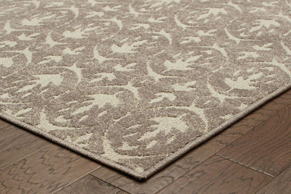 Woven - Hampton Grey Ivory Geometric Distressed Transitional Rug