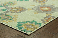 Woven - Hampton Ivory Grey Floral  Transitional Rug