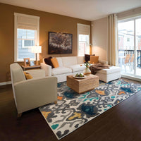 Woven - Hampton Ivory Multi Abstract Ikat Transitional Rug