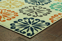 Woven - Hampton Ivory Multi Floral Circles Transitional Rug