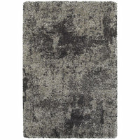 Henderson Grey Charcoal Abstract Shag Transitional Rug