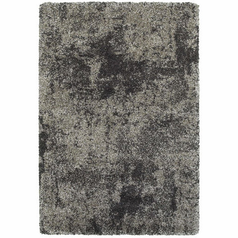 Oriental Weavers Henderson Grey Charcoal Abstract Shag Transitional Rug