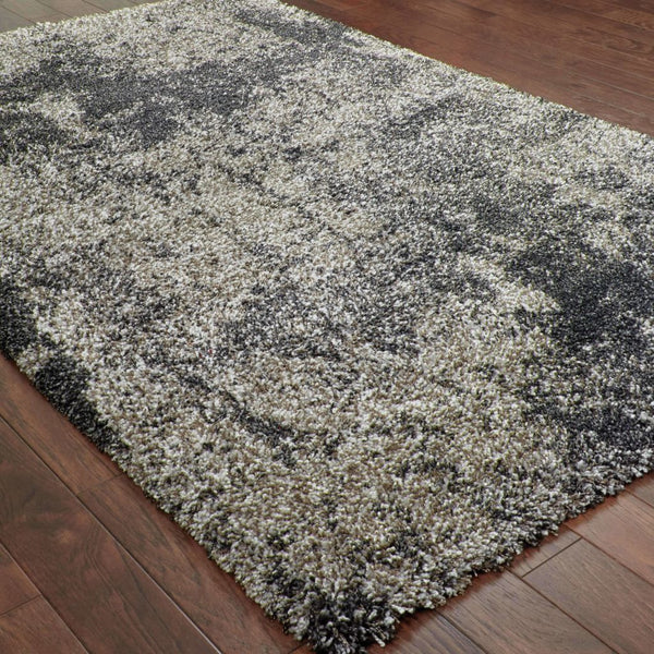 Woven - Henderson Grey Charcoal Abstract Shag Transitional Rug