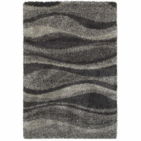 Oriental Weavers Henderson Grey Charcoal Abstract Stripe Transitional Rug