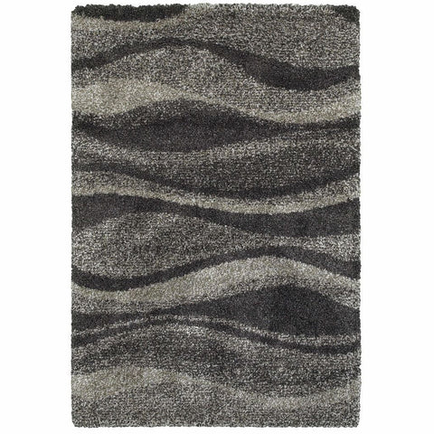 Henderson Grey Charcoal Abstract Stripe Transitional Rug