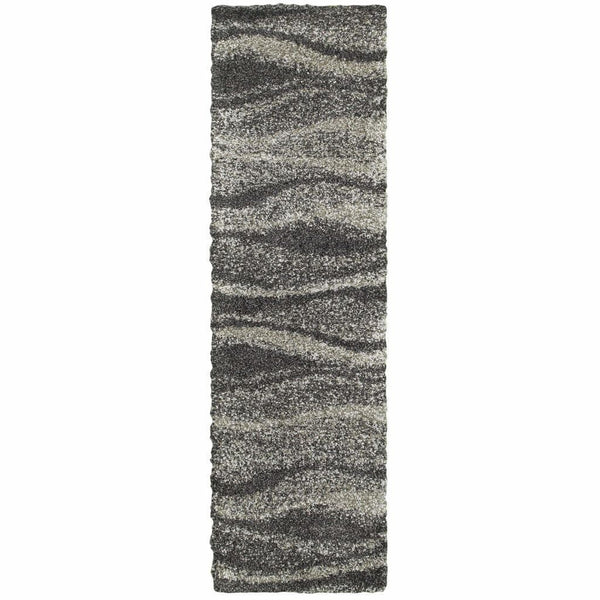 Woven - Henderson Grey Charcoal Abstract Stripe Transitional Rug