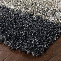 Woven - Henderson Grey Charcoal Geometric Shag Transitional Rug