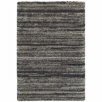 Oriental Weavers Henderson Grey Charcoal Geometric Stripe Transitional Rug