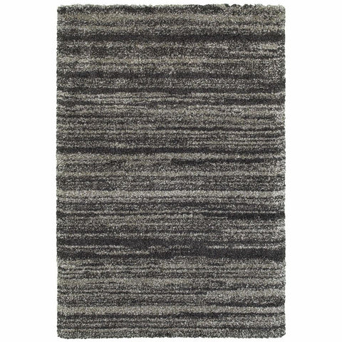 Henderson Grey Charcoal Geometric Stripe Transitional Rug
