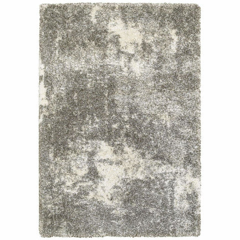 Henderson Grey Ivory Abstract Shag Transitional Rug