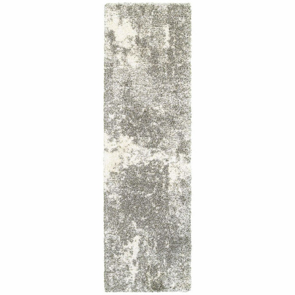 Woven - Henderson Grey Ivory Abstract Shag Transitional Rug