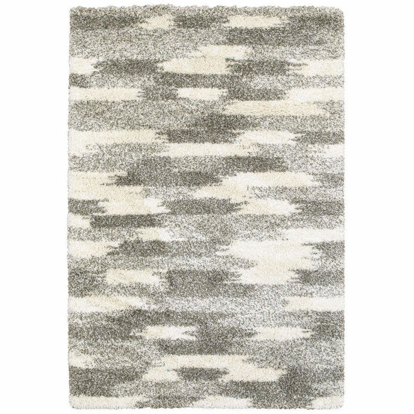 Oriental Weavers Henderson Grey Ivory Geometric Shag Transitional Rug