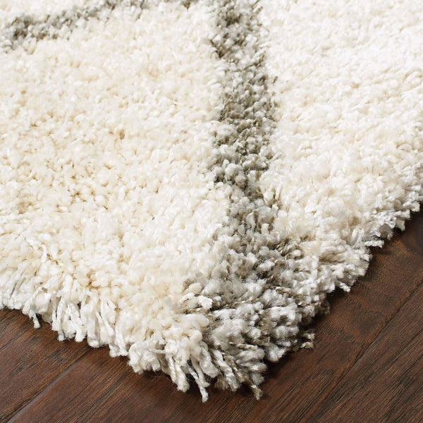 Woven - Henderson Ivory Grey Geometric Lattice Transitional Rug