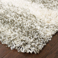 Woven - Henderson Ivory Grey Geometric Shag Transitional Rug