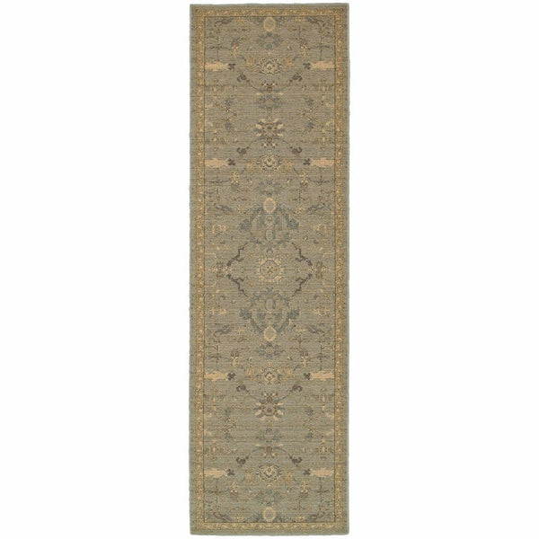 Woven - Heritage Blue Beige Oriental Persian Casual Rug