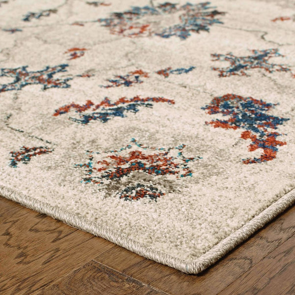Woven - Highlands Beige Multi Floral Oriental Transitional Rug