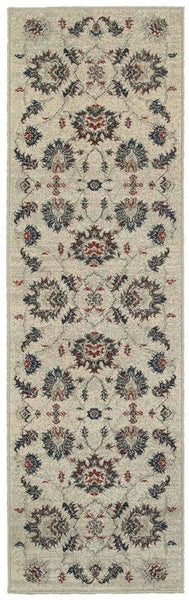 Highlands Beige Multi Floral Oriental Transitional Rug - Free Shipping